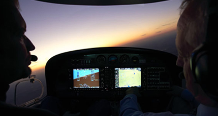 pilots flying at night